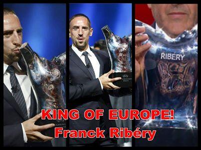 Franck Ribery, Europas Fussballer des Jahres 2013