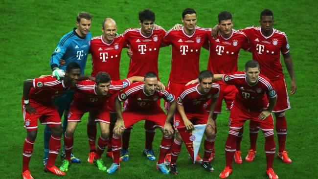 DFB Pokal Mannschaftsfoto gegen VfB . 1.6.13