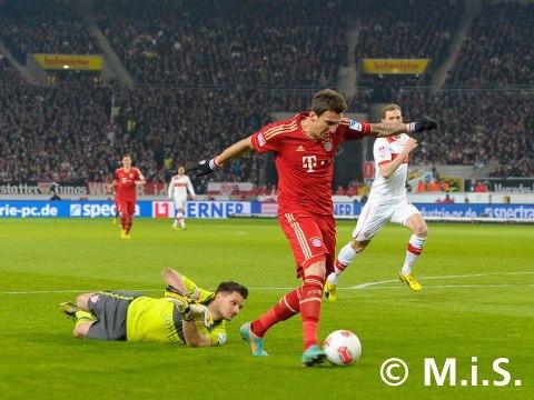 VFB Stuttgart-FCB 0zu2 Mandzukic 0zu1 .27.01.13